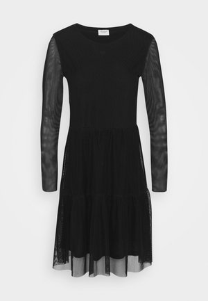 JDYDIXIE LAYER DRESS - Denní šaty - black