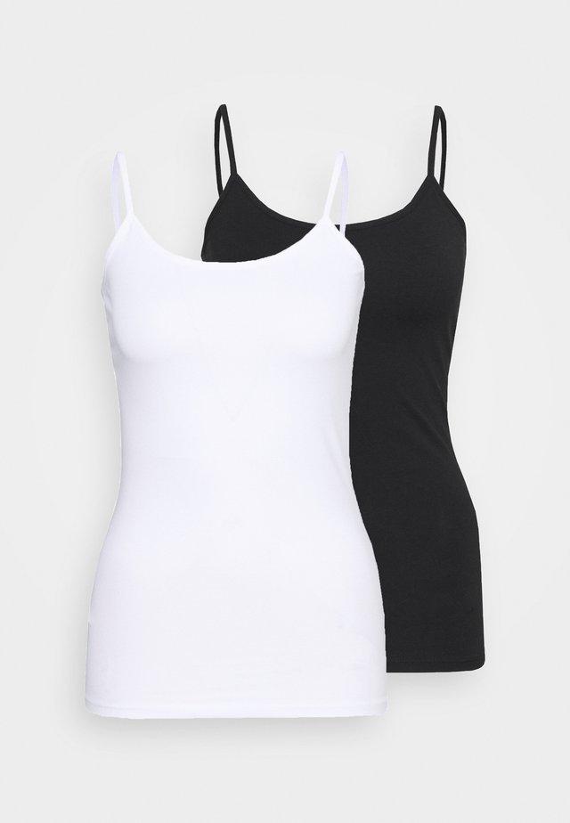 ONLLOVE SINGLET 2 PACK - Topper - white/black