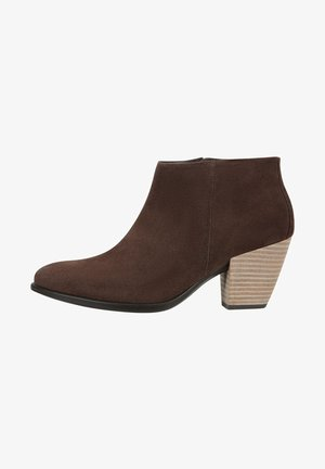SHAPE WESTERN - Ankle boots - coffee