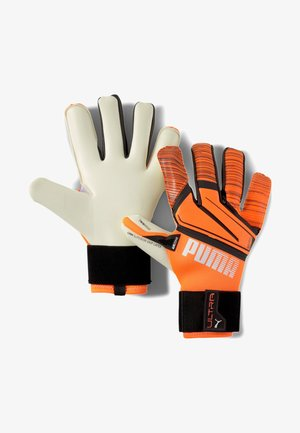 Goalkeeping gloves - shocking orange-white-black