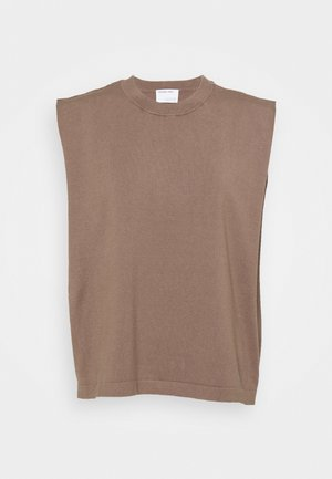 MANDY MUSCLE TEE - T-shirts print - taupe