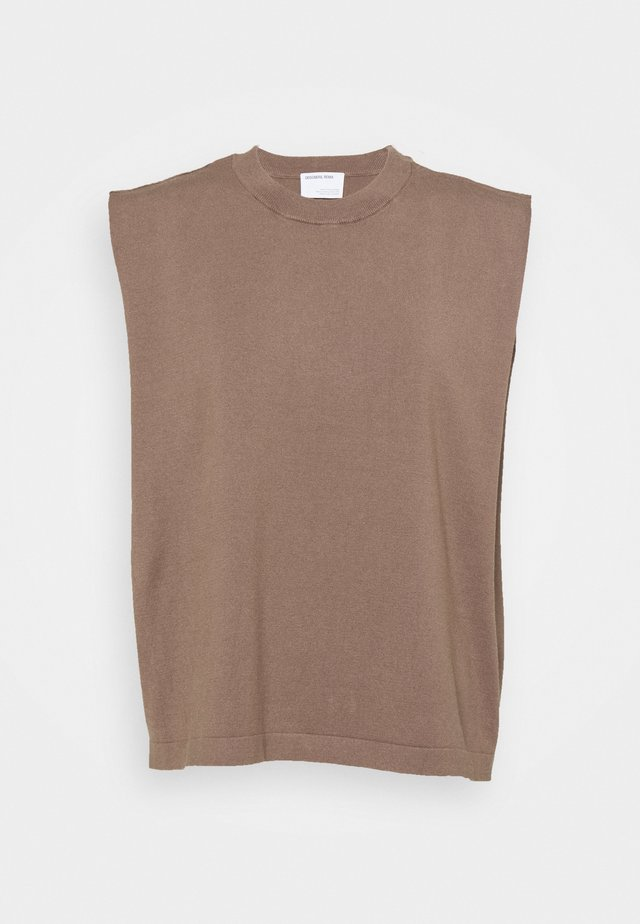 MANDY MUSCLE TEE - T-shirt print - taupe