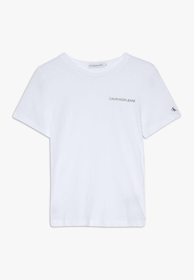 Calvin Klein Jeans - CHEST LOGO UNISEX - T-Shirt basic - white