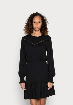 FRILL DRESS - Vapaa-ajan mekko - black