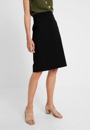 PENCIL STRETCH NEW - Áčková sukně - black