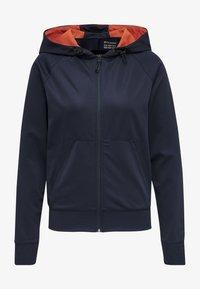 Hummel - Zip-up hoodie - dark sapphire/fiesta - 0