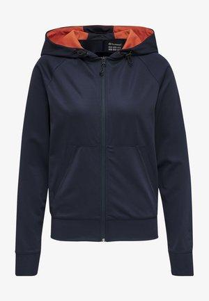 Zip-up hoodie - dark sapphire/fiesta