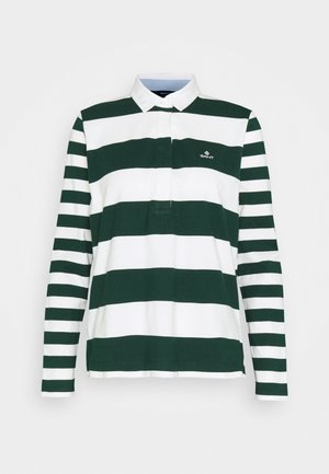 MIXED STRIPE HEAVY RUGGER - Polo shirt - tartan green