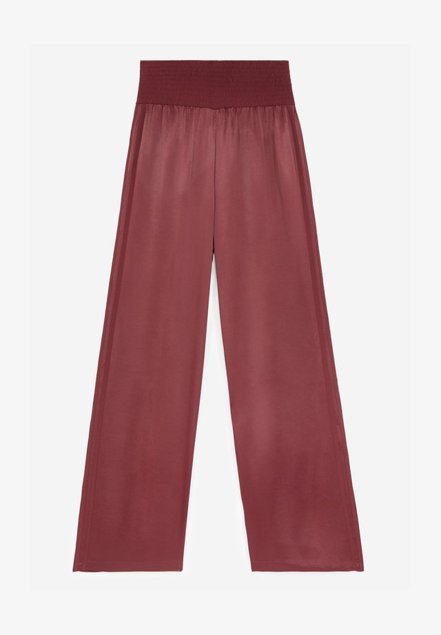 Trousers - burgundy