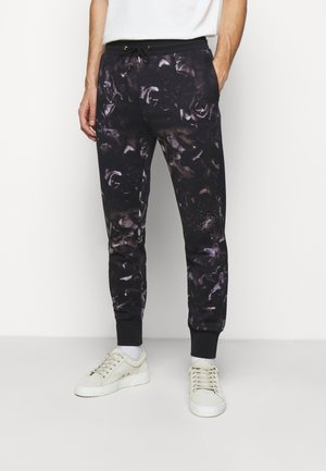GENTS FLORAL PRINT JOGGER - Pantalon de survêtement - black