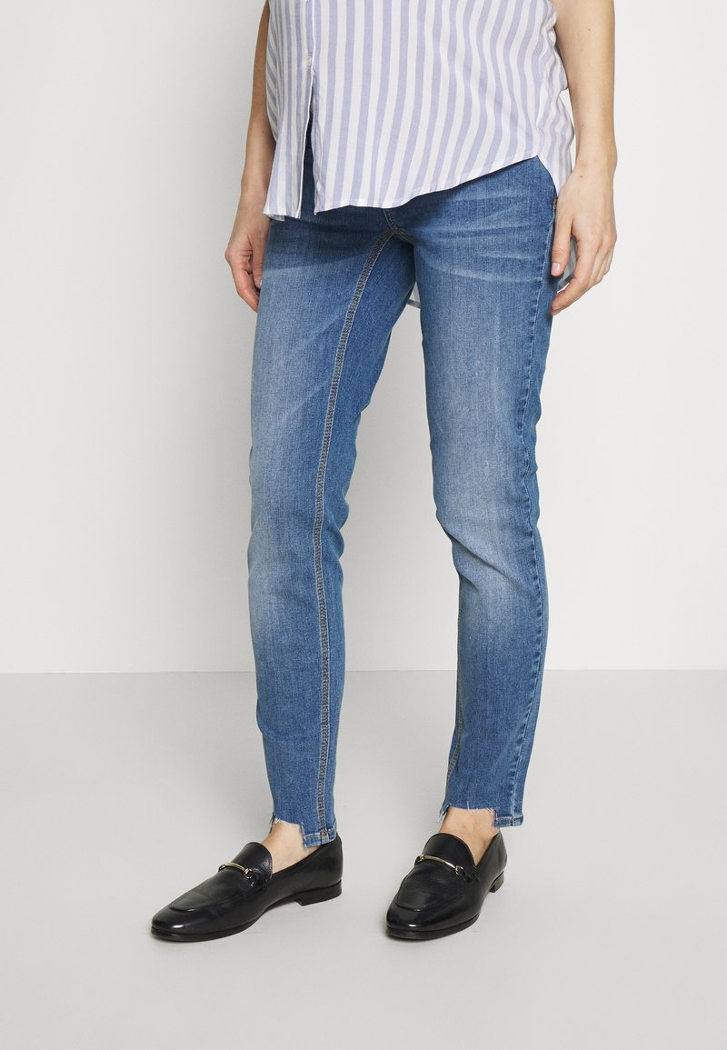 MAMALICIOUS - MLAZUL  - Vaqueros slim fit - medium blue denim