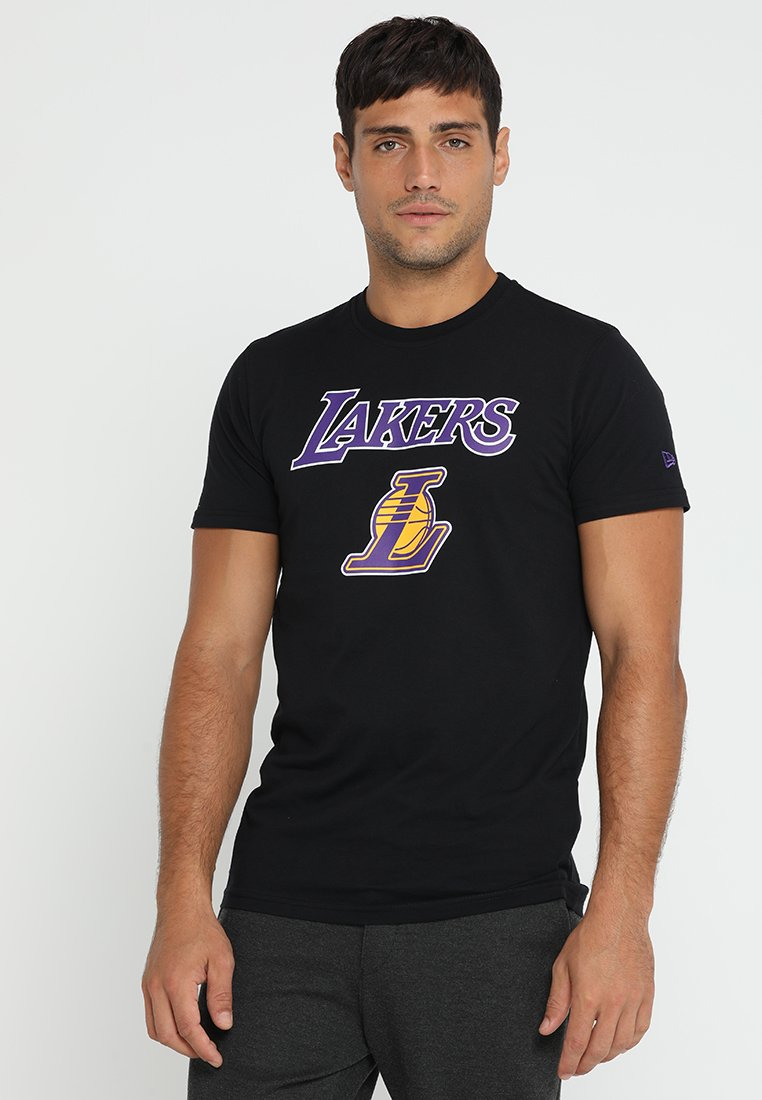 New Era - LOS ANGELES LAKERS - Print T-shirt - black