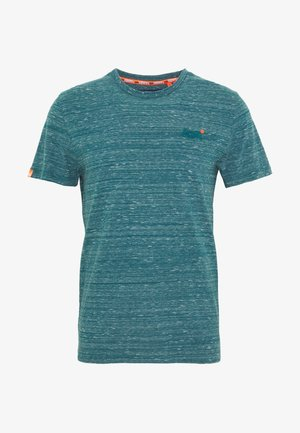 VINTAGE EMBROIDERY TEE - Print T-shirt - deep teal space