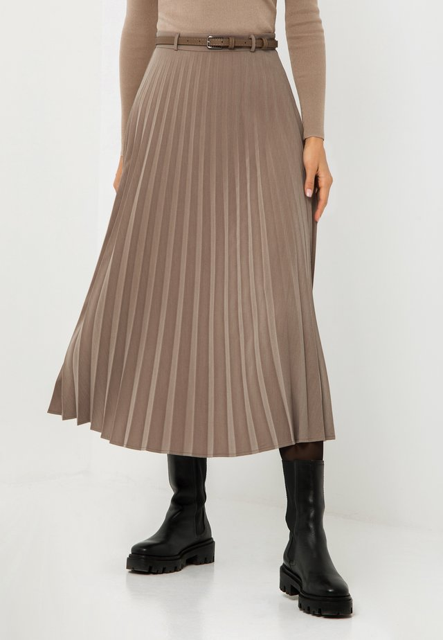 A-line skirt - coffee