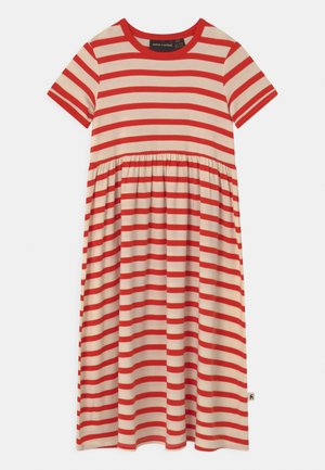 STRIPE  - Jersey dress - red