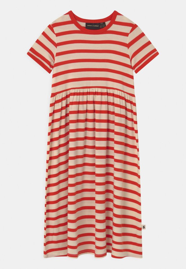 STRIPE  - Vestito di maglina - red