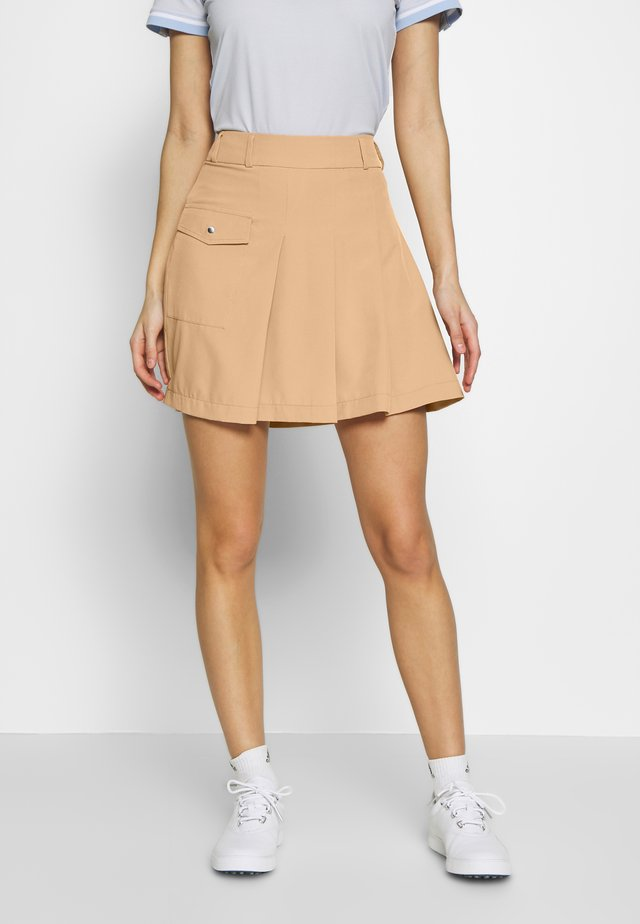 PLEAT SKORT - Sportsnederdel - deep birch