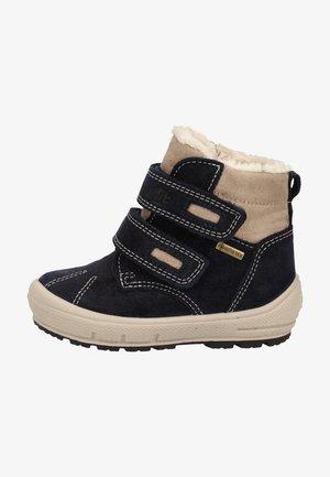 Winter boots - blau/beige
