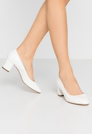 CLEMENTINE ROUND TOE COURT - Escarpins - white