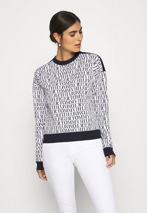 NESSY SCRIPT - Pullover - white