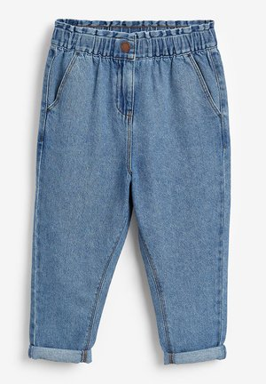 ELASTICATED WAIST  - Jean droit - blue