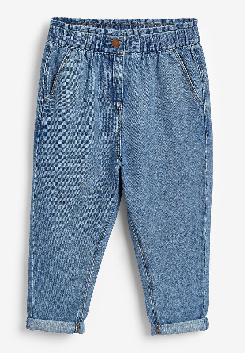 Next - ELASTICATED WAIST  - Straight leg jeans - blue