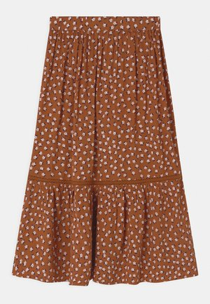 TRISH - Maxi skirt - mocha bisque