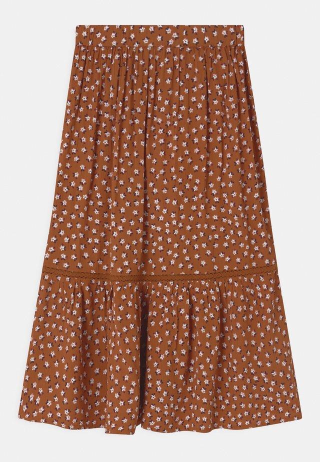 TRISH - Maxi skirt - mocha bisque