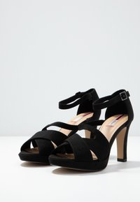s.Oliver - High heeled sandals - black - 4