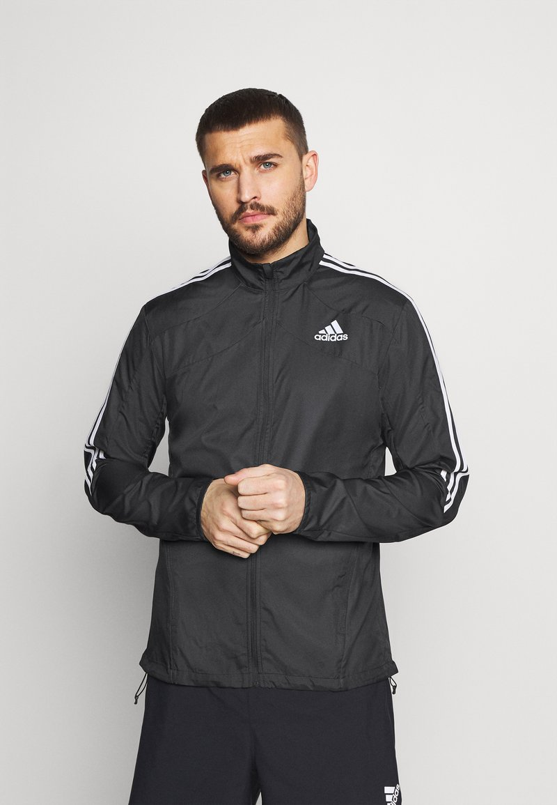 adidas Performance - MARATHON - Sports jacket - black/white