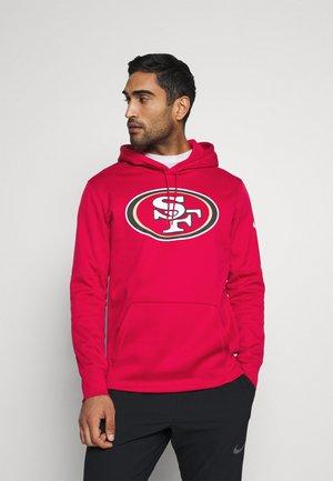 NFL SAN FRANCISCO 49ERS PRIME LOGO HOODIE - Club wear - gym red