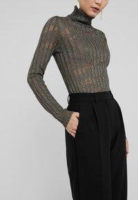 Bruuns Bazaar - CINDY DAGNY PANT - Trousers - black - 3