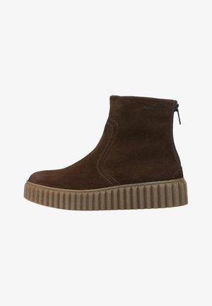 Platform ankle boots - dark brown