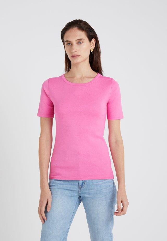 CREWNECK ELBOW SLEEVE - Camiseta básica - intense pink