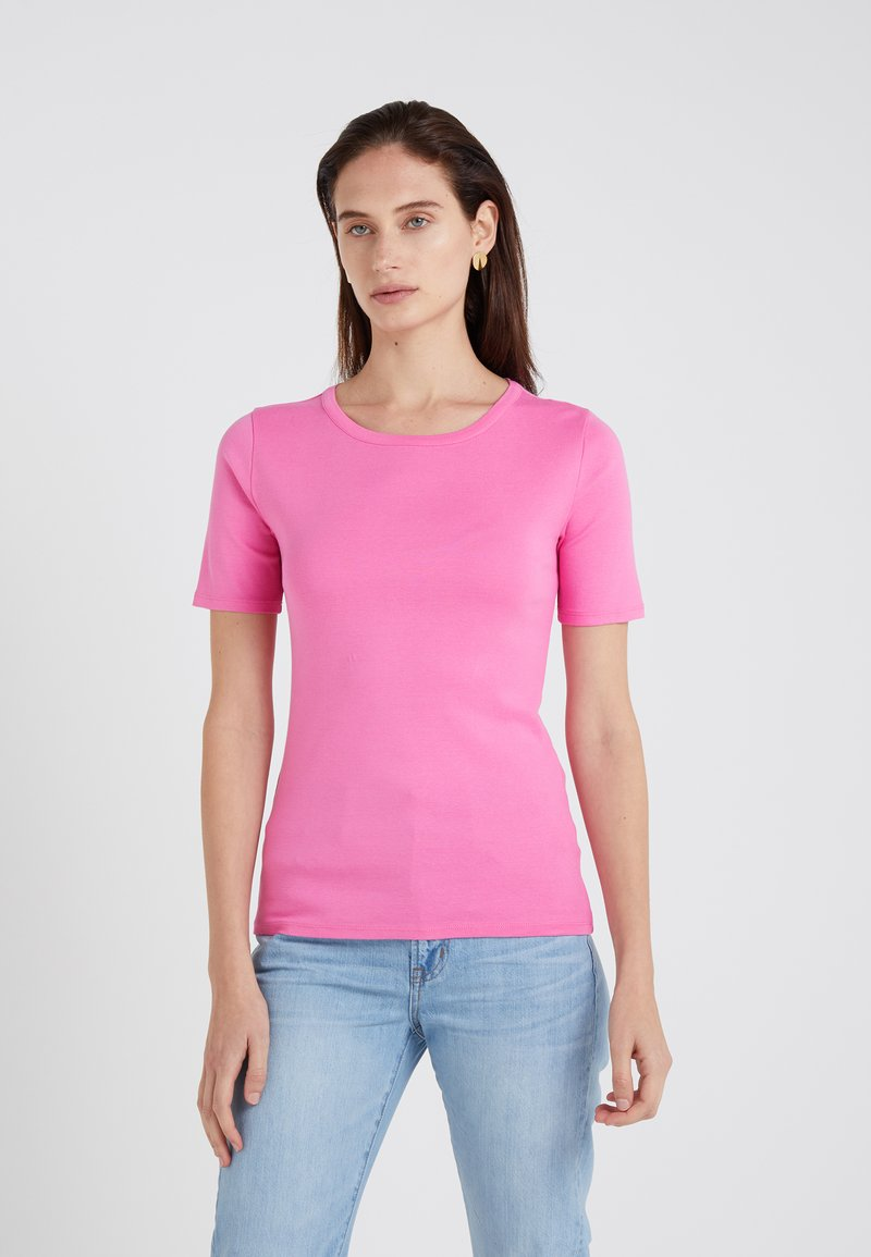 J.CREW - CREWNECK ELBOW SLEEVE - Basic T-shirt - intense pink