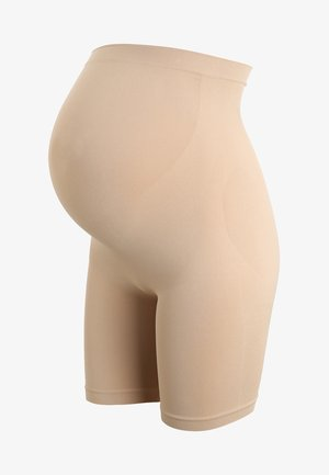 MATERNITY DUAL SUPPORT SLIMMING SHORTS - Pants - almond