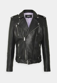 Tigha - BONE - Leather jacket - black - 6