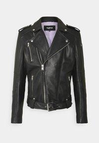 BONE - Leather jacket - black