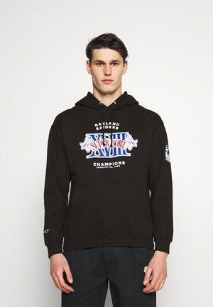 NFL OAKLAND RAIDERS RINGS VIP HOODY - Club wear - black