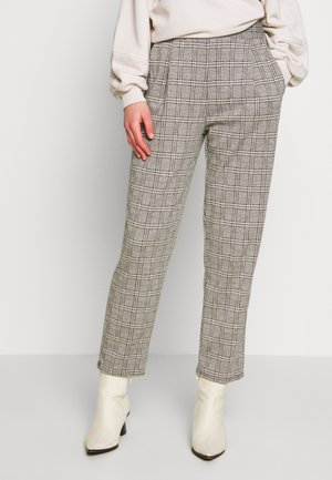 KATE CHECK PULL ON TROUSER - Trousers - grey