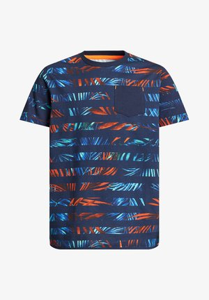 Print T-shirt - blue orange