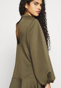 Closet - HIGH NECK PEPLUM DRESS - Day dress - khaki - 3