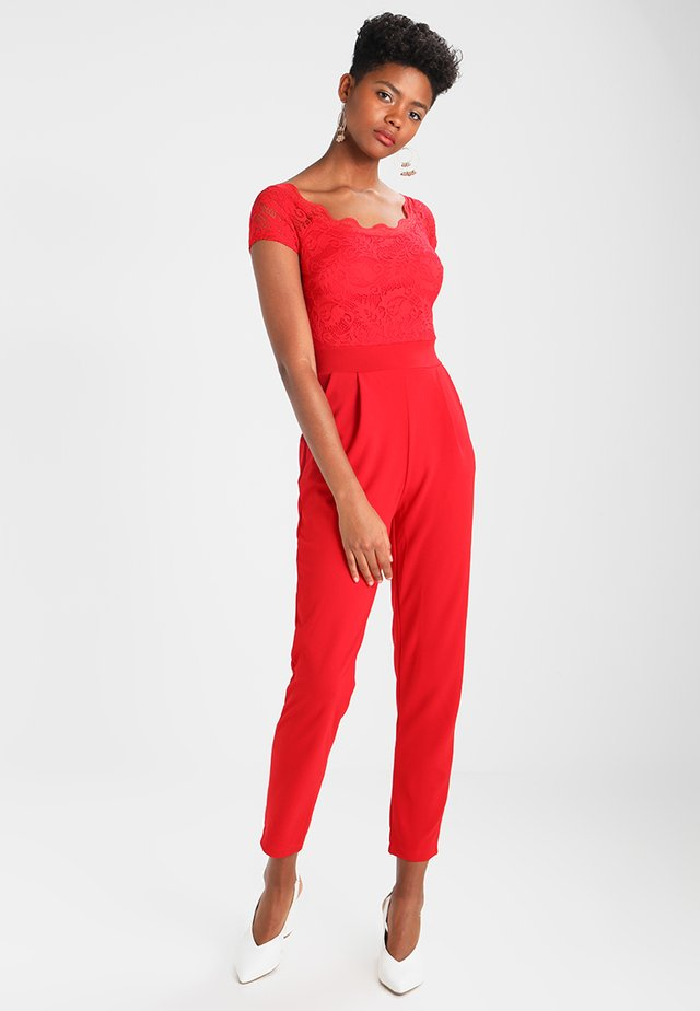 DETAIL - Jumpsuit - red