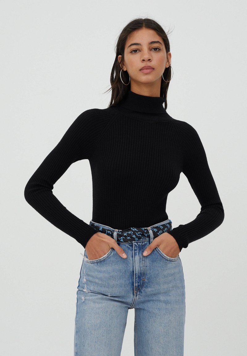 PULL&BEAR - Jumper - black