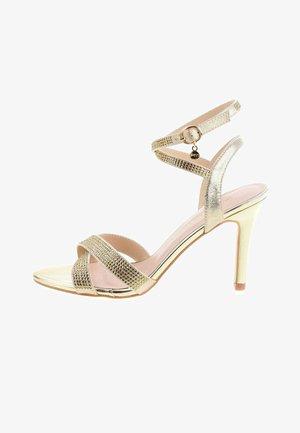 CERSUTA - Sandalen met hoge hak - gold