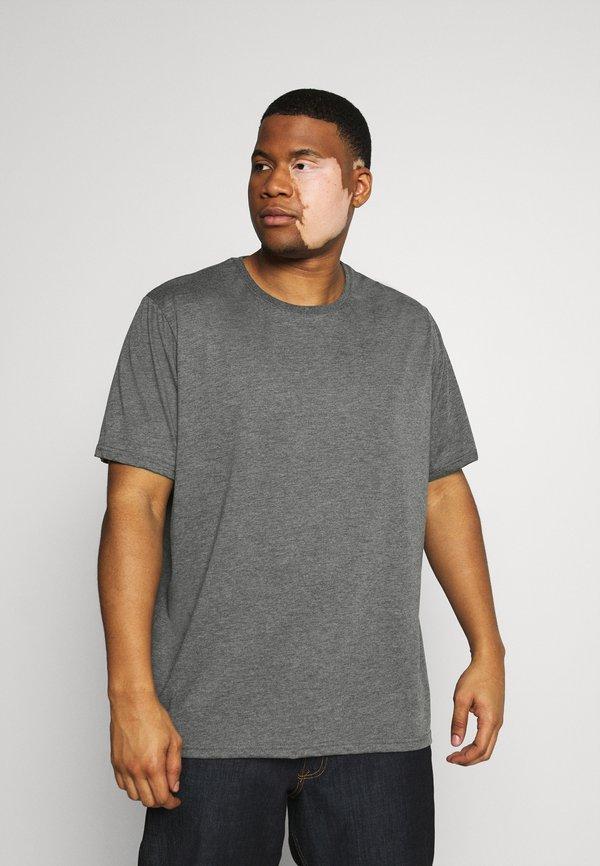 Pier One 3 PACK - T-shirt basic - khak/ grey /black/khaki Odzież Męska NIFM