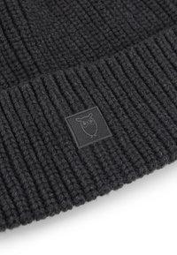 Knowledge Cotton Apparel - LEAF HAT UNISEX - Muts - dark grey - 4