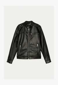 Bershka - BIKERJACKE AUS KUNSTLEDER 01291109 - Leather jacket - black - 4