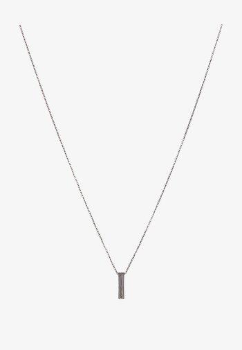 PINSTRIPE NECKLACE - Ketting - gunmetal