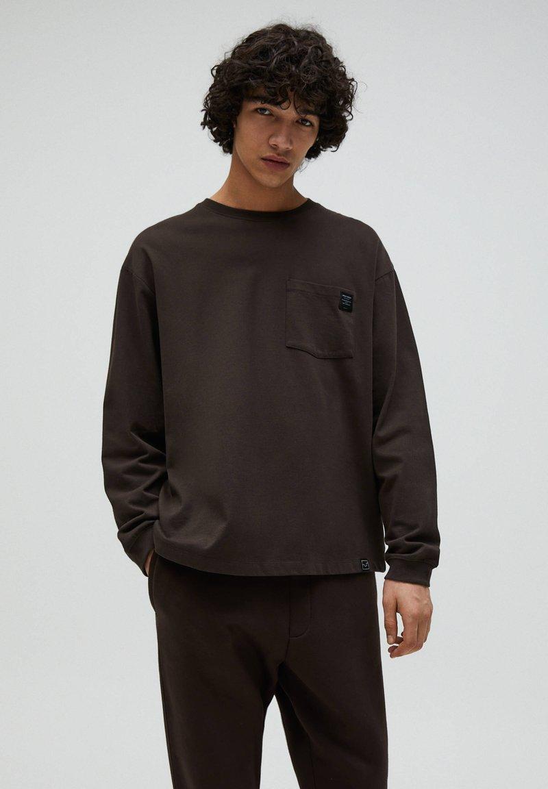 PULL&BEAR - Sweter - mottled brown